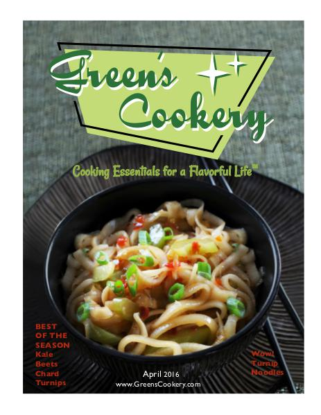 Greens Cookery April 2016