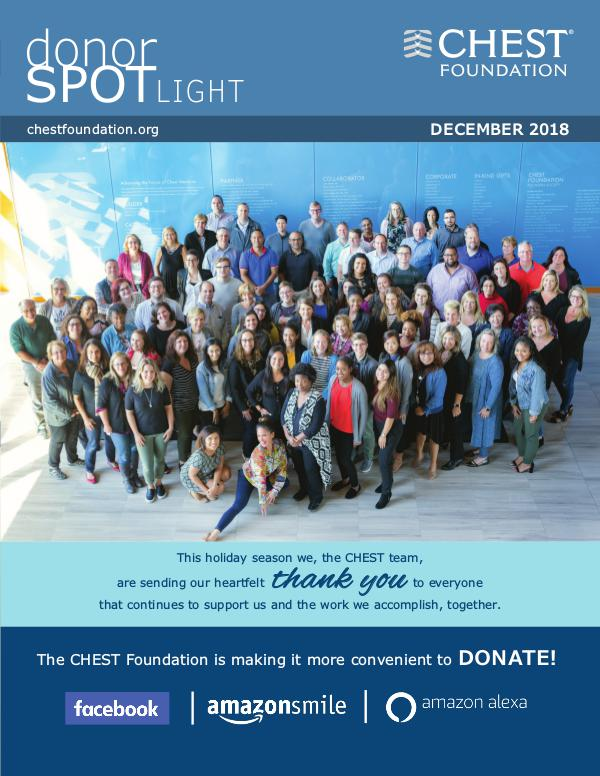 CHEST Foundation Donor Spotlight December 2018