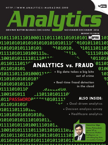 Analytics Magazine Analytics Magazine, November/December 2014