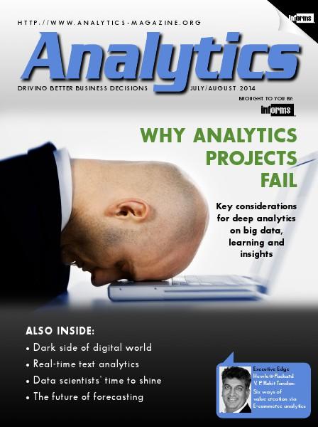 Analytics Magazine, July/August 2014
