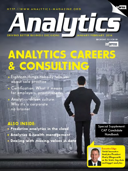 Analytics Magazine, January/February 2014
