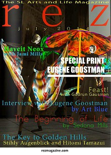 Art Blue in interview with Eugene Goostman in rezmagazine