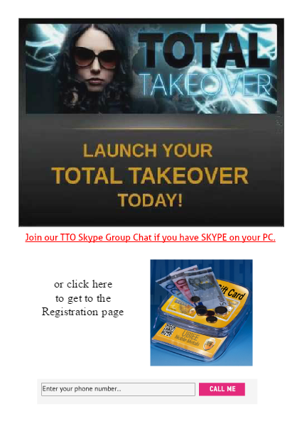 TTO - TOTAL TAKE OVER - January 2015 - Edition 01 Michael J. Unger / 18-Jan-2015