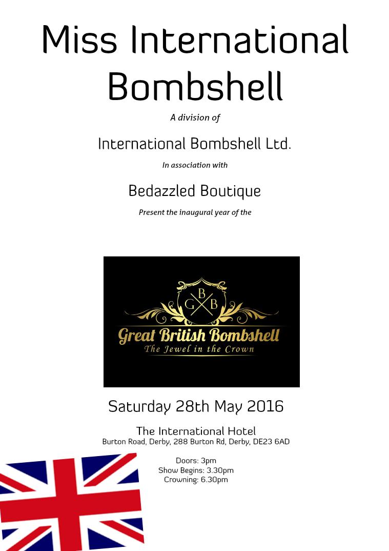 Great British Bombshell 2016 May 2016