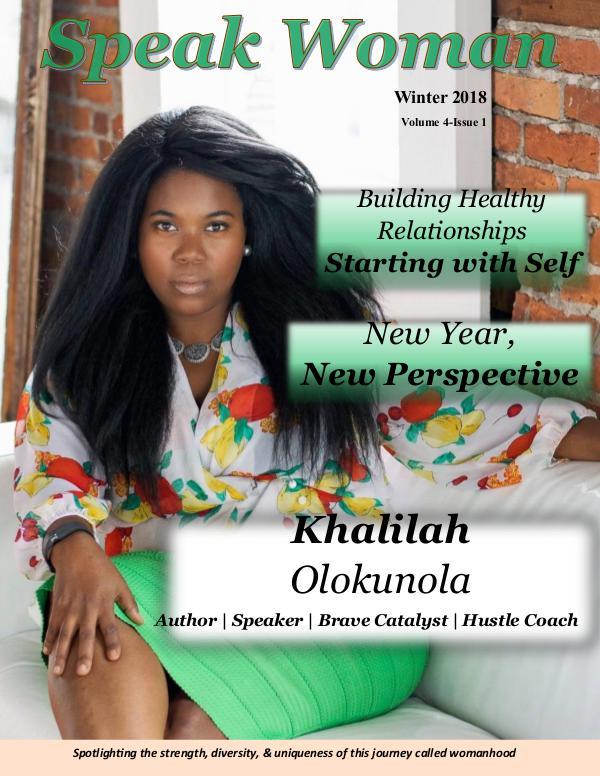 Speak Woman Magazine Winter 2018 Issue Speak Woman Magazine