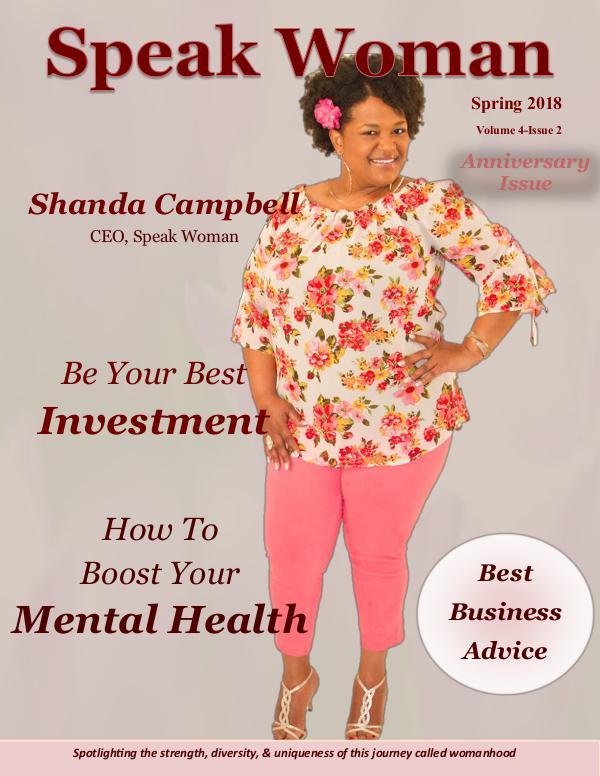 Spring 2018 Issue of Speak Woman Magazine