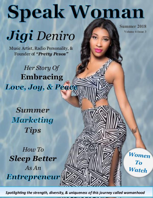 Speak Woman Magazine Summer 2018 Issue of Speak Woman Magazine