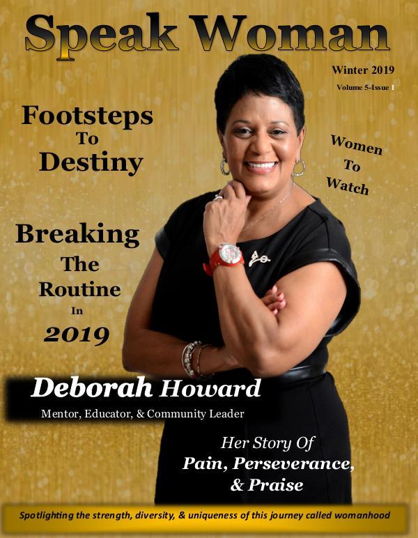 Winter 2019 Issue of Speak Woman Magazine