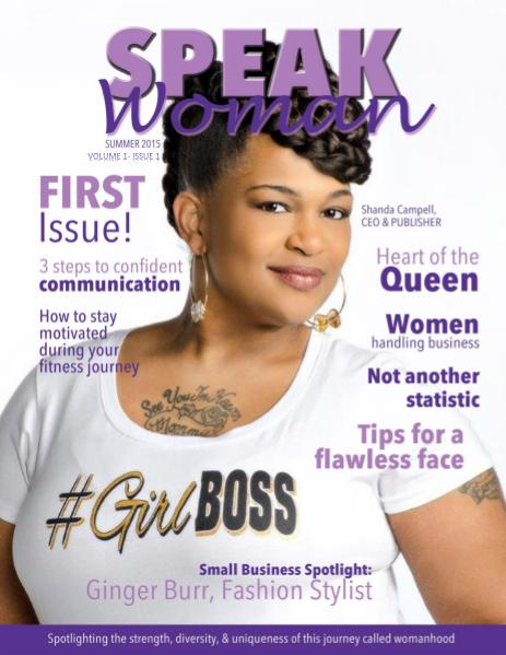Speak Woman Magazine Volume 1 Issue 1