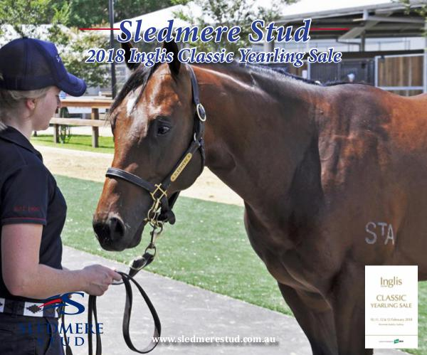 Sledmere Stud - 2018 Inglis Classic Yearling Sale draft 2018 Sledmere Stud Inglis Classic Booklet