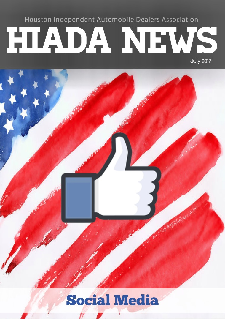 Houston Independent Automobile Dealers Association July Issue: Social Media