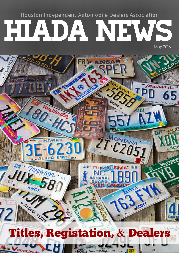 Houston Independent Automobile Dealers Association May Issue: Titles, Registration, & Dealers