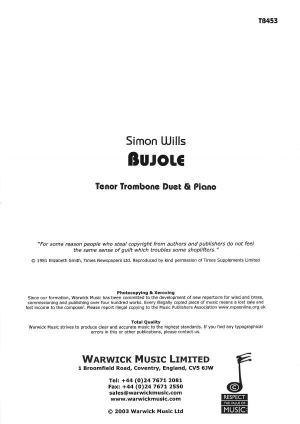 Simon Wills: Bujole TB453