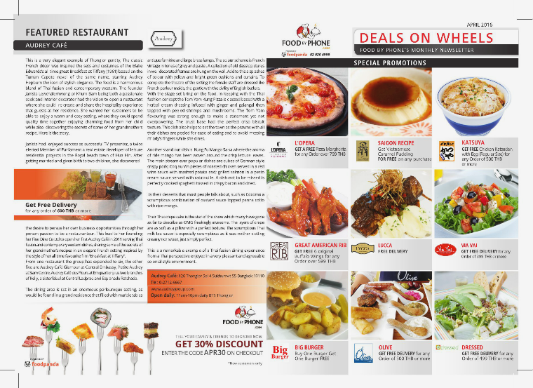 FOOD BY PHONE DEALS ON WHEELS APRIL 2016