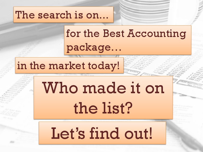 accounting package Jan. 2015