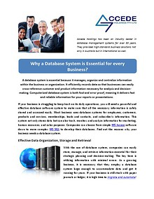Why a Database System is Essential for every Business?
