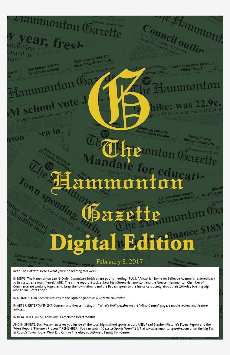 The Hammonton Gazette 02/08/17 Edition