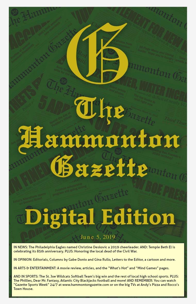 The Hammonton Gazette 06/05/19 Edition