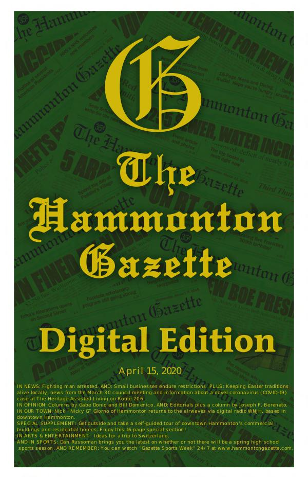 04/15/20 Hammonton Gazette Digital Edition