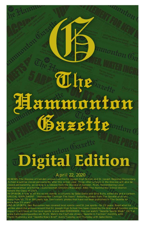 The Hammonton Gazette 04/22/20 Hammonton Gazette Digital Edition
