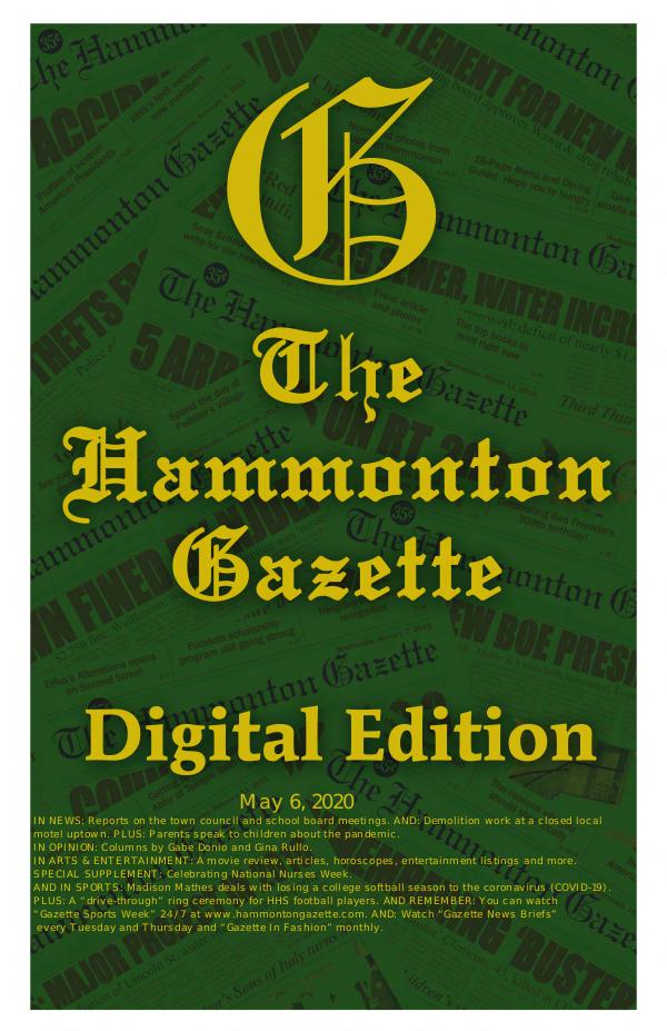 The Hammonton Gazette 050620  Digital Edition of The Hammonton Gazette