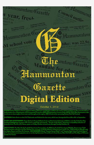 The Hammonton Gazette 10/01/14 Edition