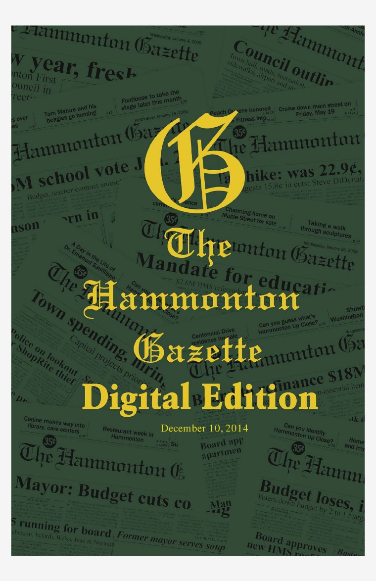 The Hammonton Gazette 12/10/14 Edition