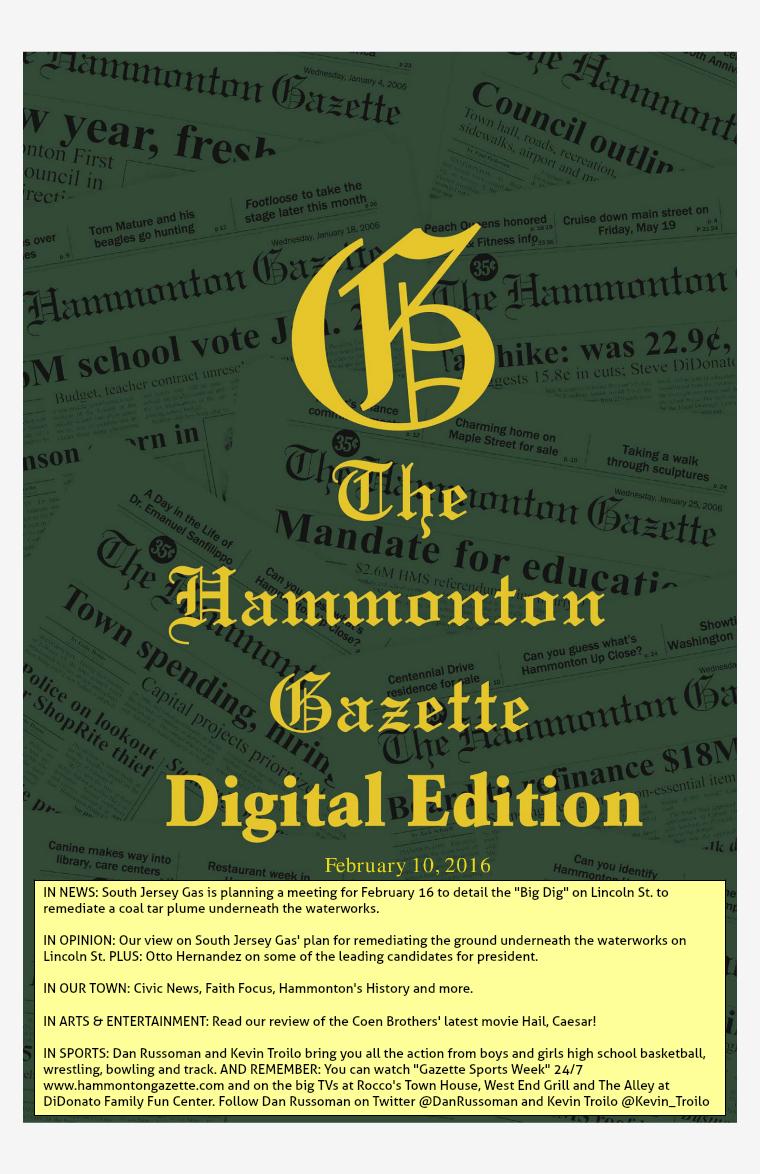 The Hammonton Gazette 02/10/16 Edition