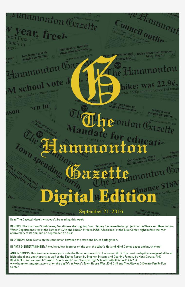 The Hammonton Gazette 09/21/16 Edition