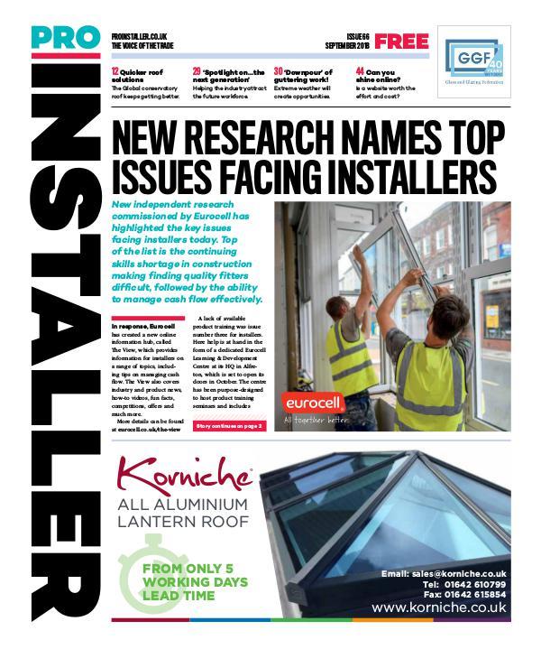 Pro Installer September 2018 - Issue 66
