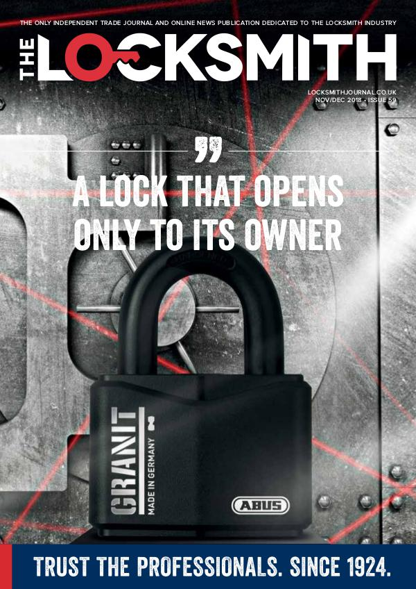 The Locksmith Nov/Dec 2018