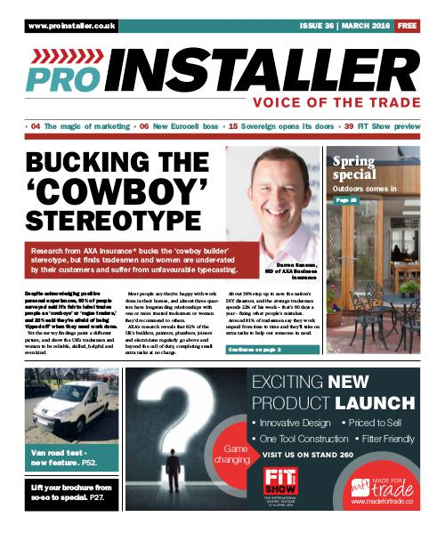 Pro Installer March 2016 - Issue 36