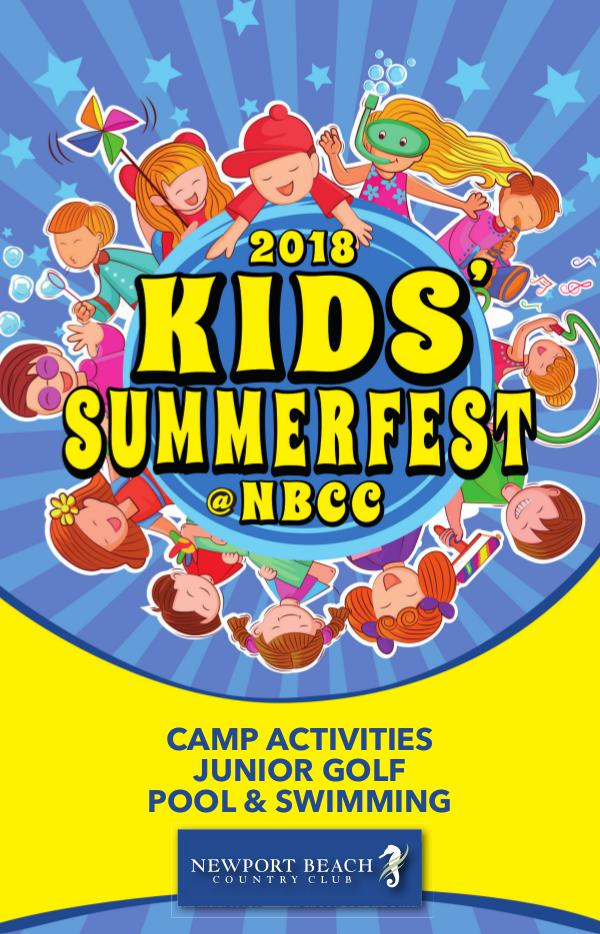 Newport Beach Country Club Summer Guide 2018 Kids Summerfest