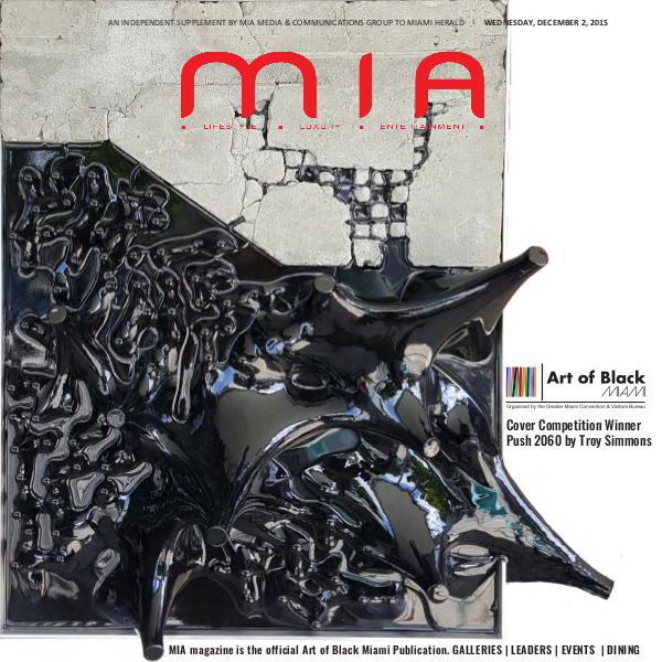 MIA Magazine December 2015 Art of Black Miami