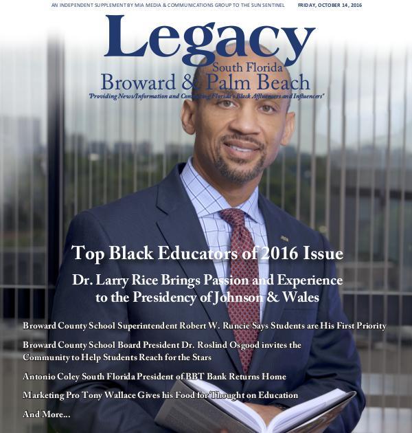 Legacy 2016 South Florida: Top Black Educators Issue