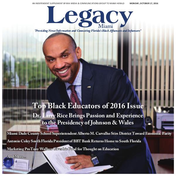 Legacy 2016 Miami: Top Black Educators Issue
