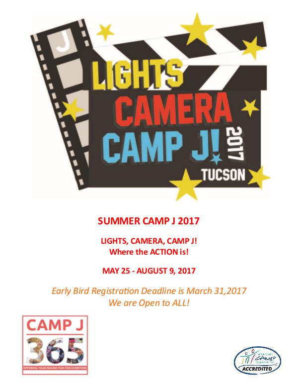 Summer Camp Brochure 2017 Camp J Summer Camp Brochure 2017