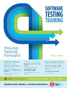 SQE Training - Software Testing Training Fall 2015 Brochure
