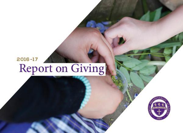 CPA Report on Giving 2016-17 CPA Report on Giving 2016-17