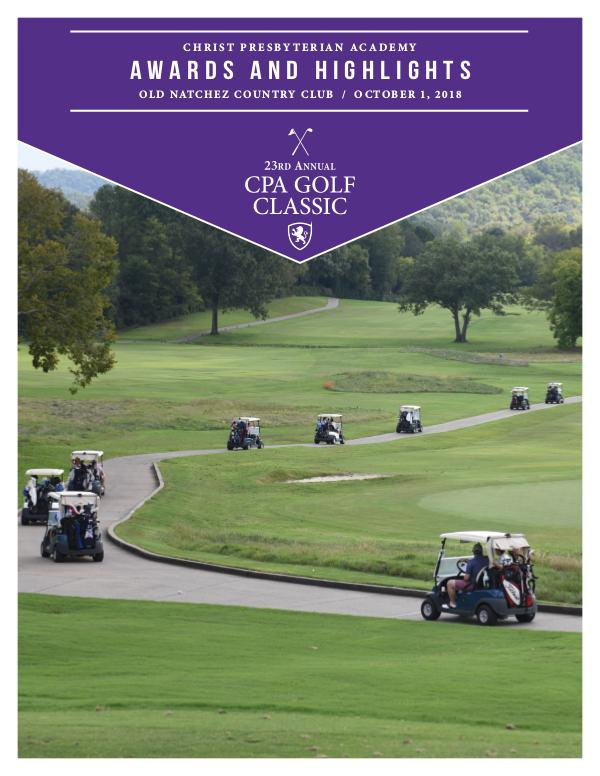 CPA 23rd Annual Golf Classic Awards and Highlights CPA 23rd Annual Golf Classic Highlights