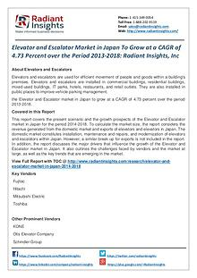 Elevator and Escalator Market in Japan to Grow at a CAGR of 4.73