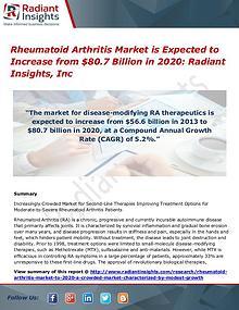Rheumatoid Arthritis Market is Expected to Increase from $80.7