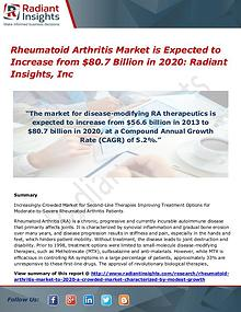 Rheumatoid Arthritis Market is Expected to Increase from $80.7