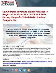 Commercial Beverage Blender Market