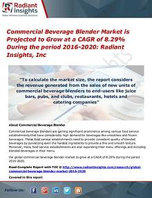 Commercial Beverage Blender Market