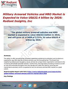 Military Armored Vehicles and MRO Market is Expected to Value US$32.4