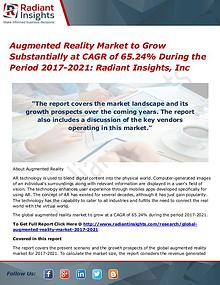 Augmented Reality Market to Grow Substantially at CAGR of 65.24%