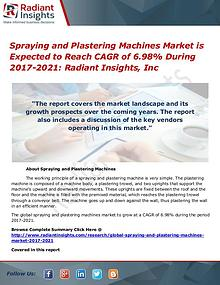 Spraying and Plastering Machines Market