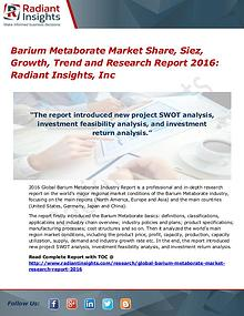 Barium Metaborate Market Share, Siez, Growth, Trend 2016