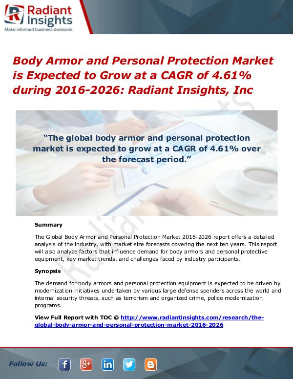Body Armor and Personal Protection Market is Expected to Grow Body Armor and Personal Protection Market 2026